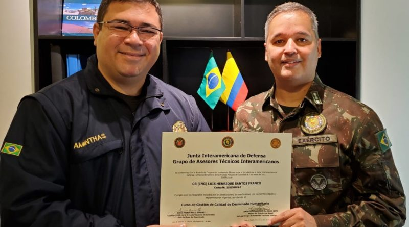 Conclusion of the Humanitarian Demining Quality Management Course for Military Members of Brazil