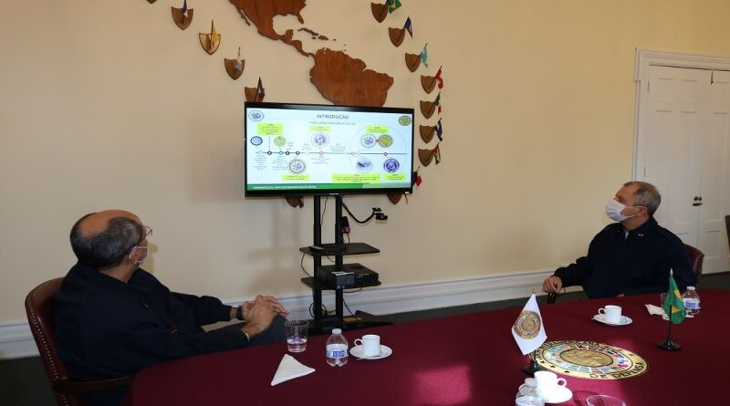 Appointed Vice Director of the Inter-American Defense College visits the IADB