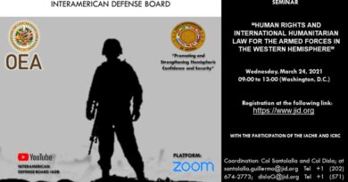 Seminar on Human Rights and International Humanitarian Law for the Armed Forces of the Western Hemisphere – March 24